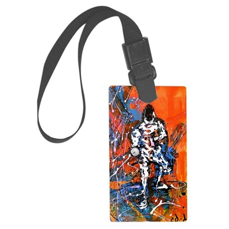 Abstract Epee_4 Large Luggage Tag