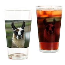 llama1_mpad Drinking Glass