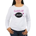 Class of 2029 (butterfly) Women's Long Sleeve T-Sh