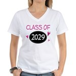 Class of 2029 (butterfly) Women's V-Neck T-Shirt