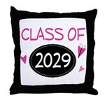Class of 2029 (butterfly) Throw Pillow