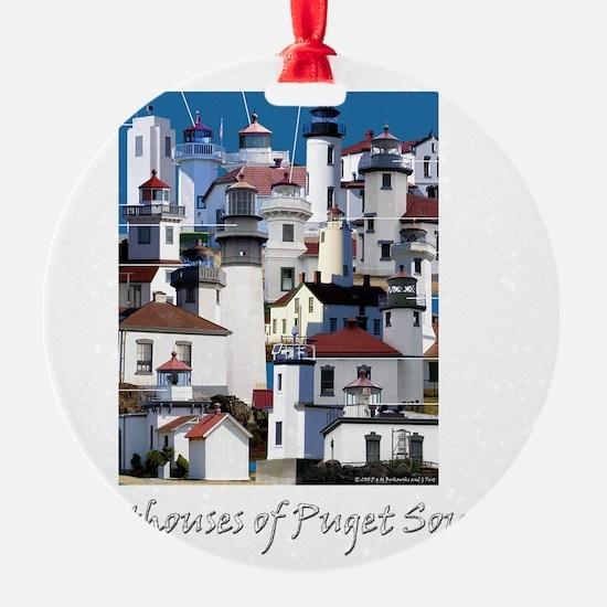 Puget Sound Dark 10x10 Ornament