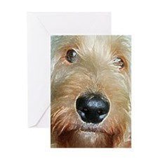 Big black squishy nose Greeting Card