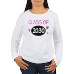 Class of 2030 (butterfly) Women's Long Sleeve T-Sh