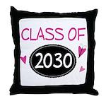 Class of 2030 (butterfly) Throw Pillow