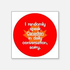 "Canadian Button Square Sticker 3"" x 3"""