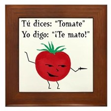 Tomate tomato 6 inch final png Framed Tile