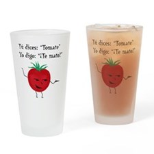 Tomate tomato 6 inch final png Drinking Glass