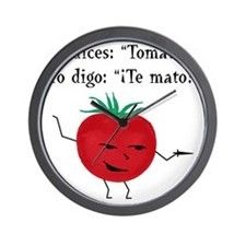 Tomate tomato 6 inch final png Wall Clock