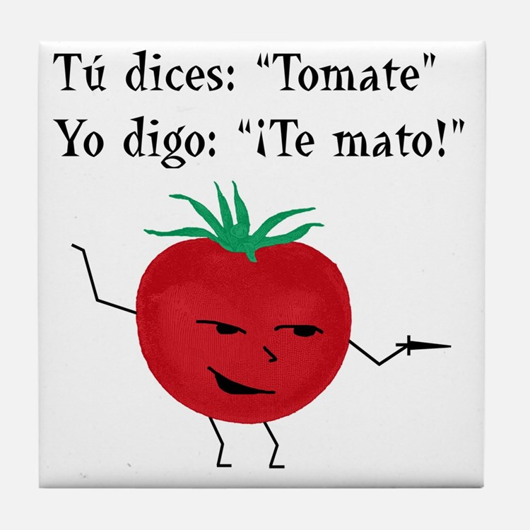 Tomate tomato 6 inch final png Tile Coaster