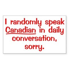 Canadian4 Decal