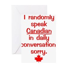 Canadian6 Greeting Card