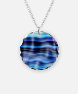 blue water ripples ocean bea Necklace