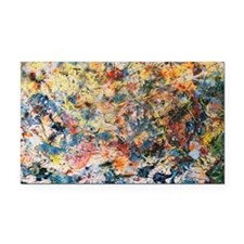 action-painting Rectangle Car Magnet