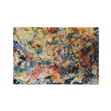 action-painting Rectangle Magnet