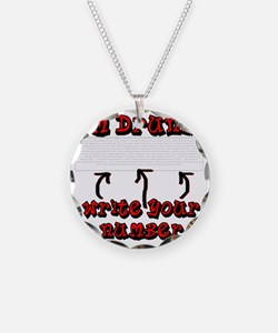 Drunk_write_number Necklace