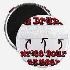 Drunk_write_number Magnet