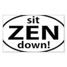 sit down ZEN Decal
