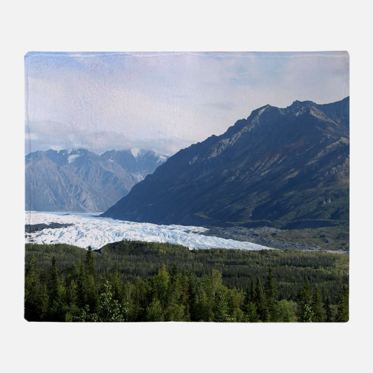 Matanuska Glacier Throw Blanket