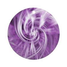 purple lilac water ripples ocean be Round Ornament