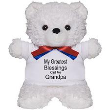 My Greatest Blessings Call Me Grandpa Teddy Bear