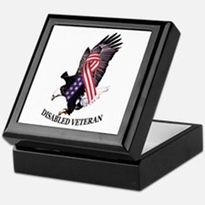 Disabled Veteran Eagle and Ribbon Keepsake Box