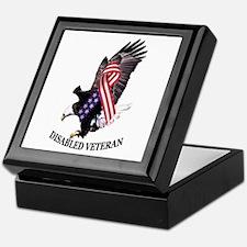 Disabled Veteran Eagle and Ribbon Keepsake Box