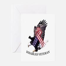 Disabled Veteran Eagle and Ribbon Greeting Cards (