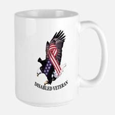 Disabled Veteran Eagle and Ribbon Large Mug