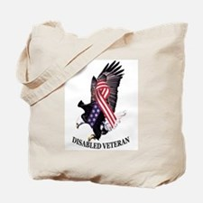 Disabled Veteran Eagle and Ribbon Tote Bag