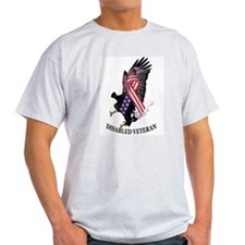 Disabled Veteran Eagle and Ribbon T-Shirt