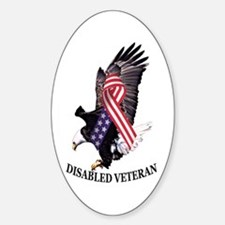 Disabled Veteran Eagle and Ribbon Decal