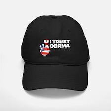 trust obama-blk Baseball Hat