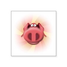 "pig-1 Square Sticker 3"" x 3"""