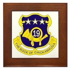 19th Infantry Regiment Framed Tile