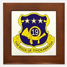 19th Infantry Regiment Framed Tile