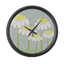 Daisies 2 Large Wall Clock