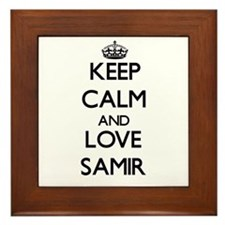 Keep Calm and Love Samir Framed Tile