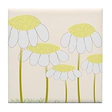 Daisies 1 Tile Coaster