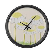 Daisies 1 Large Wall Clock