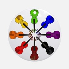 circle_of_violins Round Ornament