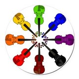 Violin Round Car Magnets