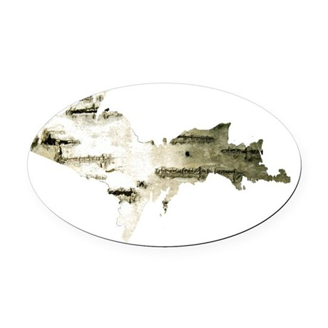 Birch_Bark_001.gif Oval Car Magnet