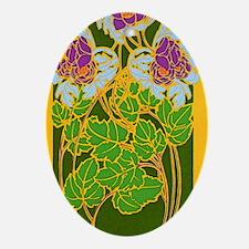 Flower Pattern1 Oval Ornament