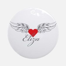 Angel Wings Eliza Ornament (Round)