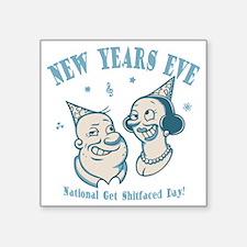 "new-years-natl-DKT Square Sticker 3"" x 3"""
