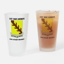 32ND CAVALRY RGT WITH TEXT Drinking Glass