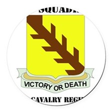 32ND CAVALRY RGT WITH TEXT Round Car Magnet