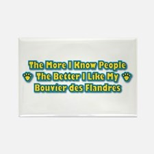 Like My Bouvier Rectangle Magnet (100 pack)
