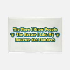 Like My Bouvier Rectangle Magnet